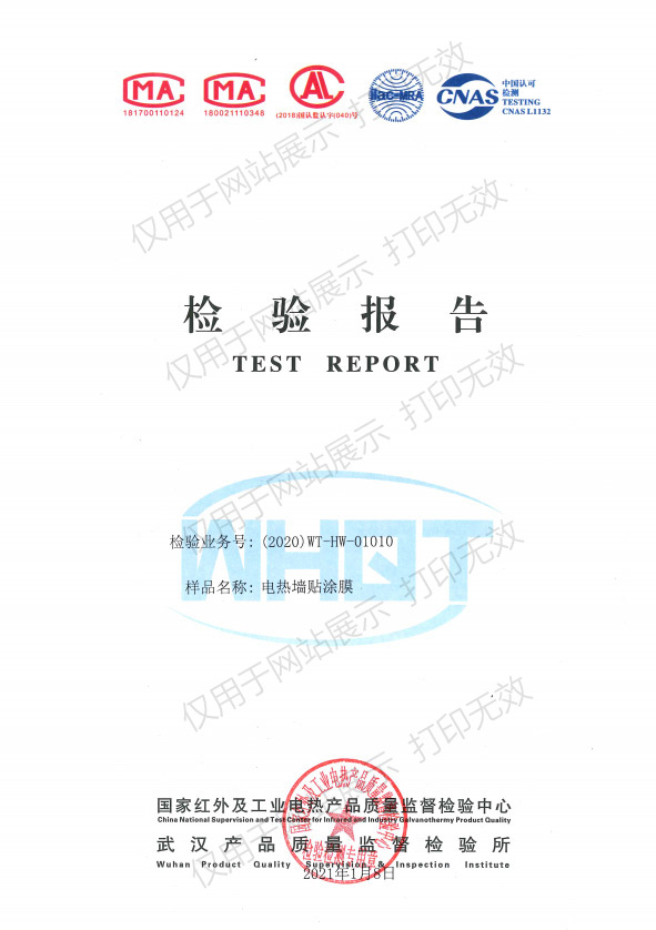 电热墙贴涂膜检验报告-2